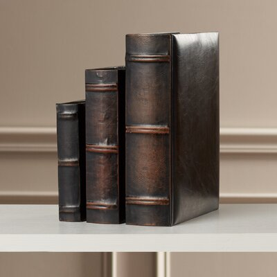 3-Piece Linklater Leather Book Box Set