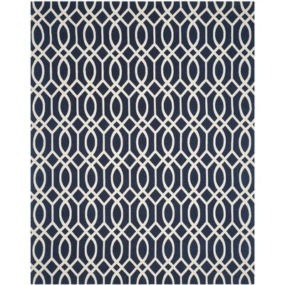 Quentin Road Navy/Ivory Area Rug Rug Size: Rectangle 4 x 6