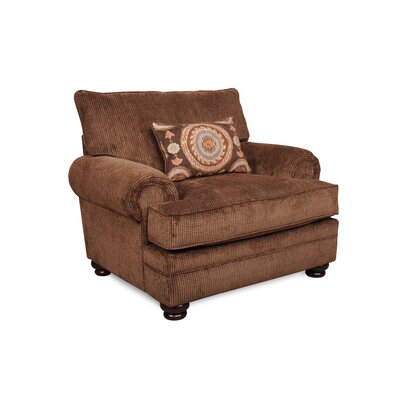 Westerville Twill Armchair Upholstery: Chocolate