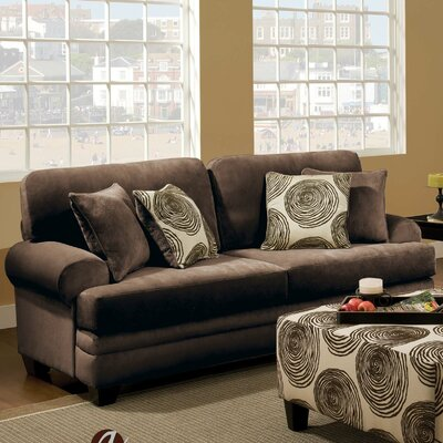 Leesburg Sofa Upholstery: Chocolate