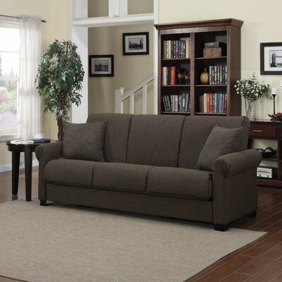 Lawrence Full Convertible Sleeper Sofa Upholstery: Brown