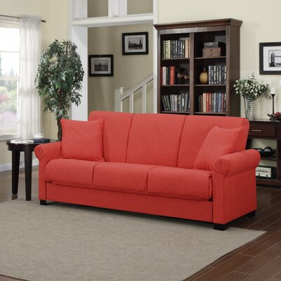 Lawrence Full Convertible Sleeper Sofa Upholstery: Sunrise Red