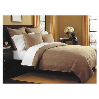 Spurling Hill Classic Cotton Quilt Size: Twin, Color: Taupe Stripe