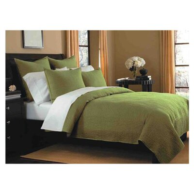 Spurling Hill Classic Cotton Quilt Size: King, Color: Green Stripe