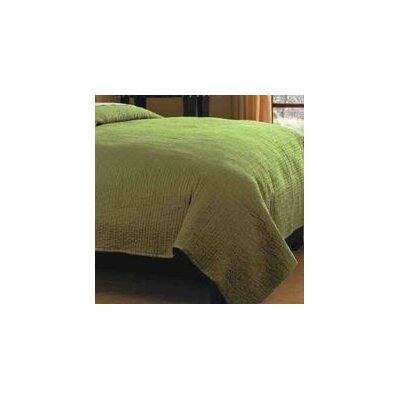 Spurling Hill Quilt Throw Color: Green Stripe