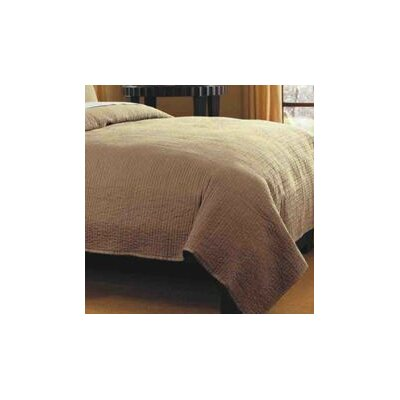 Spurling Hill Quilt Throw Color: Taupe Stripe