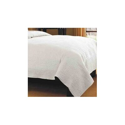 Spurling Hill Quilt Throw Color: White Stripe