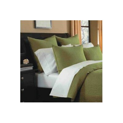 Spurling Hill Quilt Sham Color: Green Stripe, Size: Standard