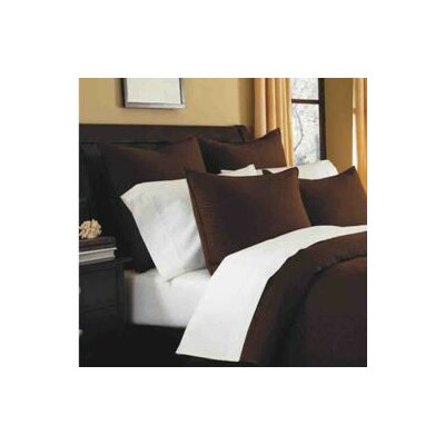 Spurling Hill Quilt Sham Color: Coffee Stripe, Size: Euro
