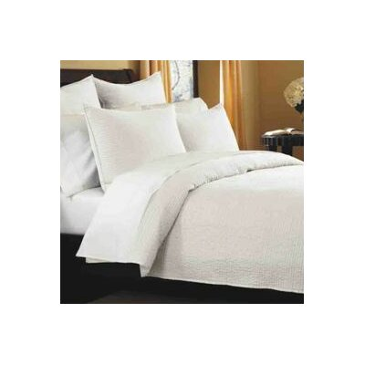 Spurling Hill Quilt Sham Color: White Stripe, Size: Euro