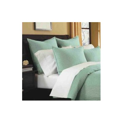 Spurling Hill Quilt Sham Color: Blue Stripe, Size: Standard