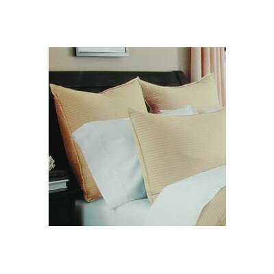 Spurling Hill Quilt Sham Color: Yellow Stripe, Size: Standard