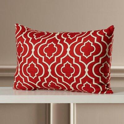 Golde 100% Cotton Lumbar Pillow Color: Red