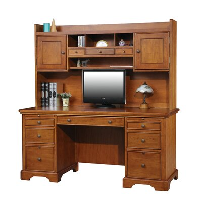 Flat Top Executive Desk with Hutch
