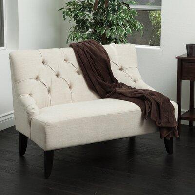 Lynnhaven Settee Upholstery: Light Beige