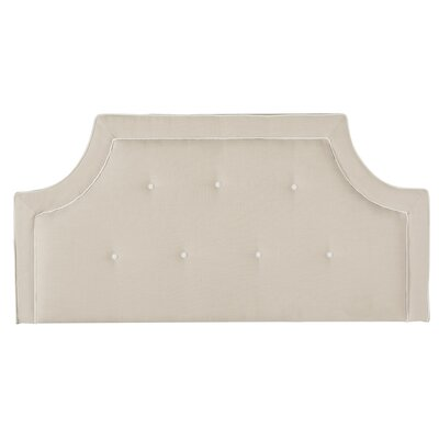 Ottoville Upholstered Panel Headboard Size: King, Upholstery: Sky Blue / White