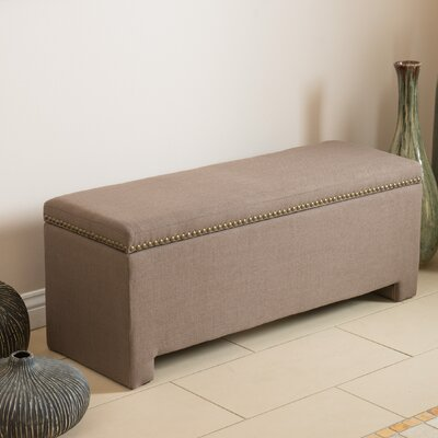Cloville Upholstered Storage Bedroom Bench Color: Mocha
