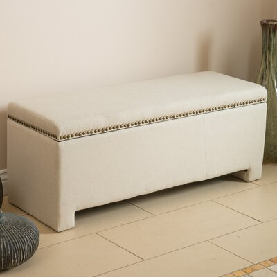 Cloville Upholstered Storage Bedroom Bench Color: Ivory