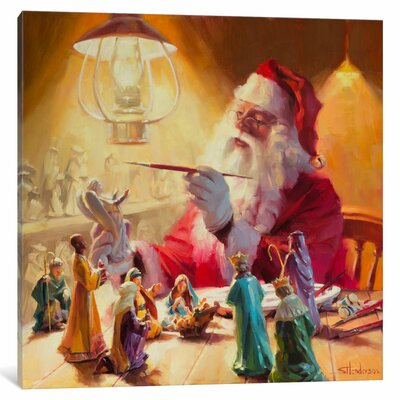 Santa More Than Toys Painting Print on Wrapped Canvas Size: 37