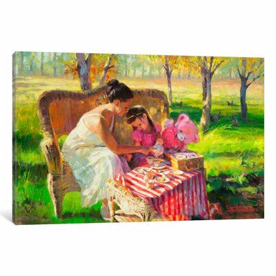 Afternoon Tea Painting Print on Wrapped Canvas