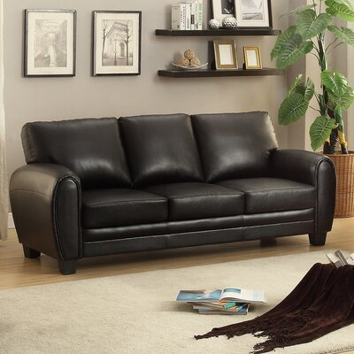 Leith Sofa Upholstery: Black