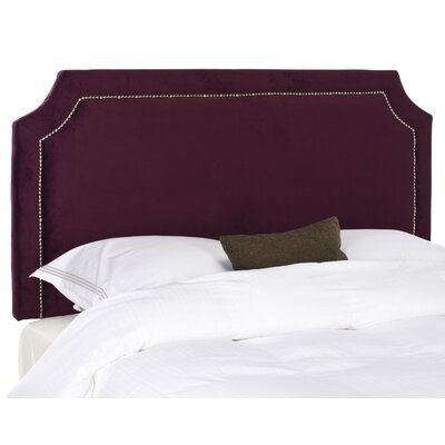 Laurie Upholstered Panel Headboard Size: Queen, Color: Bordeaux, Upholstery: Velvet