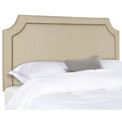 Laurie Upholstered Panel Headboard Size: Full, Color: Hemp, Upholstery: Linen