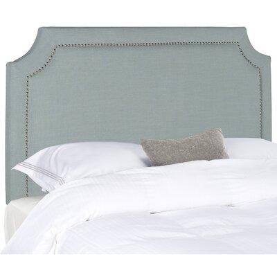 Laurie Upholstered Panel Headboard Size: Full, Color: Sky Blue, Upholstery: Linen