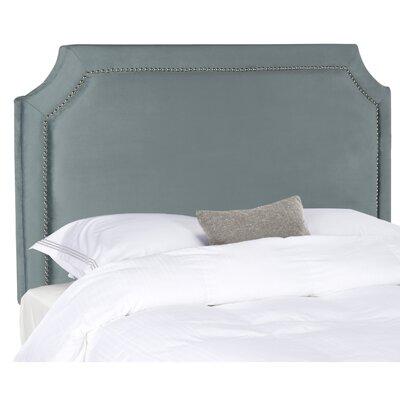 Laurie Upholstered Panel Headboard Size: Full, Color: Wedgewood Blue, Upholstery: Velvet