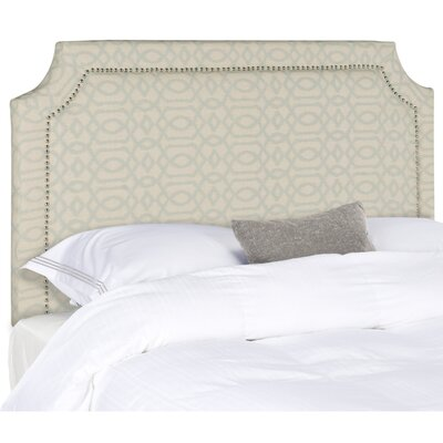 Laurie Upholstered Panel Headboard Size: Full, Color: Wheat & Pale Blue, Upholstery: Linen