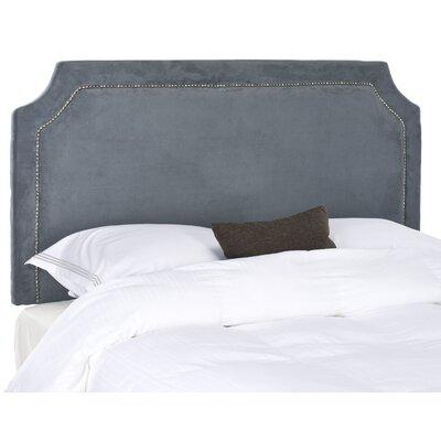 Laurie Velvet Headboard Size: Full, Upholstery: Grey