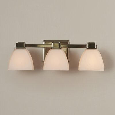 Glendale 3-Light Vanity Light Finish: Brushed Nickel