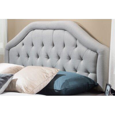 Brook Farm King Upholstered Panel Headboard Upholstery: Light Grey