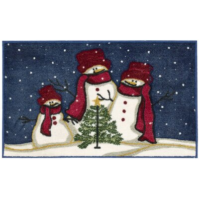 Alcott Hill Cedar Drive Snowmen and Tree Mat