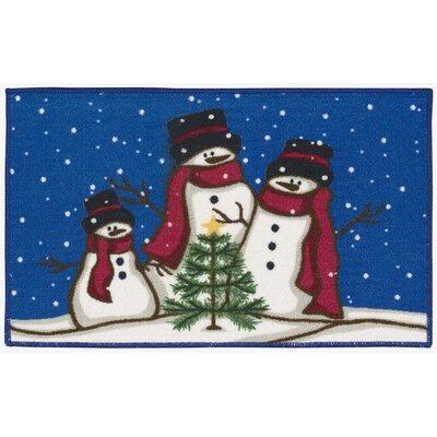 Alcott Hill Christmas Snowmen Trio Doormat