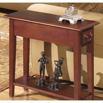 Revere Broomhedge Chairside Table Finish: Red Cherry