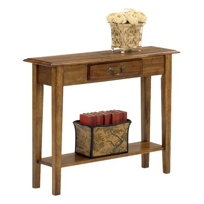 Revere Traditional Console Table Finish: Medium Oak
