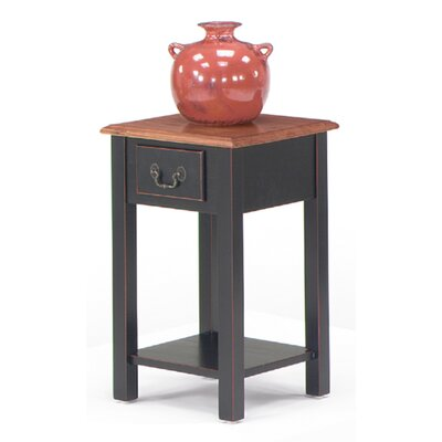 Revere End Table Color: Brown Cherry / Black