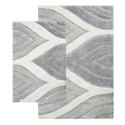 Bellaire 2 Piece Bath Rug Set Color: Grey