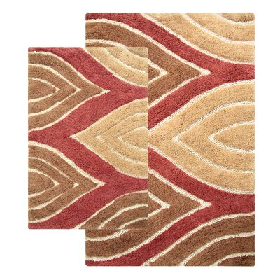 Bellaire 2 Piece Bath Rug Set Color: Adobe