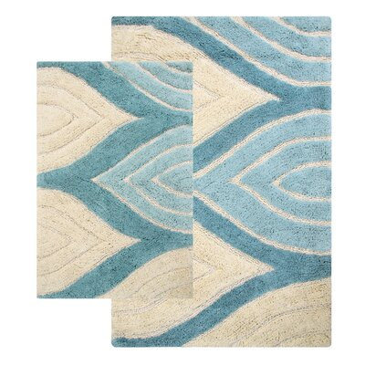 Bellaire 2 Piece Bath Rug Set Color: Aquamarine