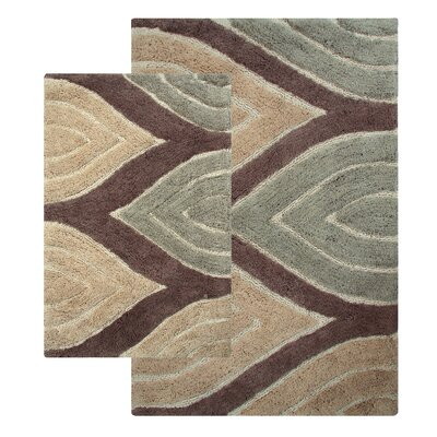 Bellaire 2 Piece Bath Rug Set Color: Tan