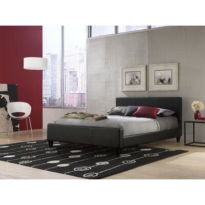 Courtney Upholstered Platform Bed Size: Full, Color: Black