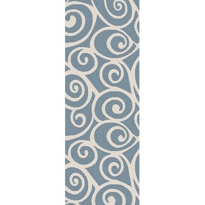 Hurley Blue Area Rug Rug Size: Runner 27 x 73