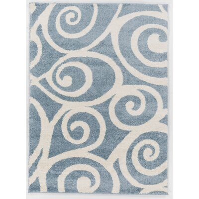 Hurley Blue Area Rug Rug Size: Rectangle 710 x 910