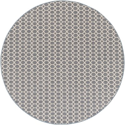 Casper Blue Indoor/Outdoor Area Rug Rug Size: Round 4