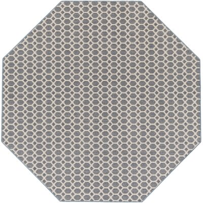 Casper Blue Indoor/Outdoor Area Rug Rug Size: Octagon 6