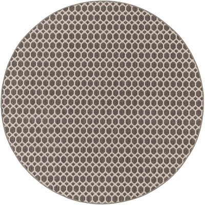 Casper Gray Indoor/Outdoor Area Rug Rug Size: Round 10