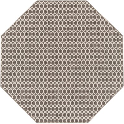 Casper Gray Indoor/Outdoor Area Rug Rug Size: Octagon 6