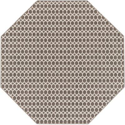 Casper Gray Indoor/Outdoor Area Rug Rug Size: Octagon 6
